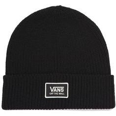 Vans Falcon Beanie (390 MXN) ❤ liked on Polyvore featuring accessories, hats, black, vans beanie, beanie cap hat, logo beanie, vans hats and beanie hats
