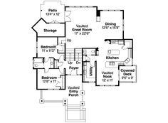 Bungalow Style House Plan - 3 Beds 2.5 Baths 2489 Sq/Ft Plan #124-533 Main Floor Plan - Houseplans.com