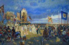 Е.Зайцев - Молебен перед битвой.