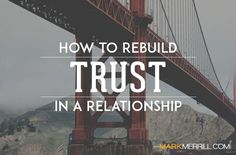 Has the trust between you and your spouse been broken? Here's how to rebuild trust in a relationship, particularly in marriage. marriage, marriage tips #marriage