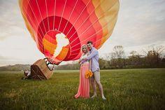 Hot Air Balloon Engagement Photos: Lindsey + Jarrod | Green Wedding Shoes Wedding Blog | Wedding Trends for Stylish + Creative Brides