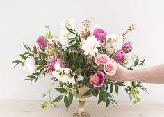 Spring Floral Series: The Low Wide Vase - Earnest Home co.