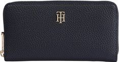 Damenbrieftasche Desert Sky TH Soft Large ZA Wallet blau Scarlet, Tommy Hilfiger, Diamond Earrings, Deserts, Sky, Jewelry, Simple Colors, Monogram, Pocket Wallet