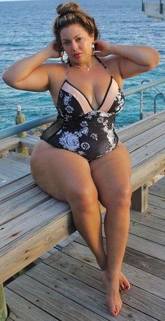 Plus size bathing suit beauty