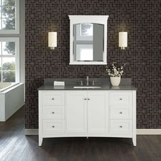 """The Shaker Americana 60"""" vanity offers clean lines; exceptional durability and the fine craftsmanship of a vintage vanity. It enhances any bathroom setting with its sensible and gracious style as popular today as it was in the 19th century. It retails starting at $1,200."""