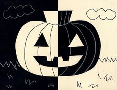Art Projects for Kids: A Positively Negative Pumpkin