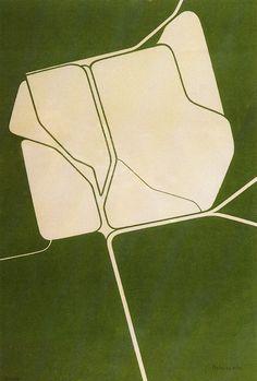 Pablo Palazuelo  (1916)  Inauguració  Serigrafía  69 x 45 cm  1974
