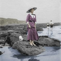 A rare autochrome, most likely dating from the long, hot summer of 1914.