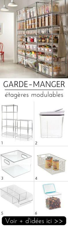 Garde-manger avec étagères en métal modulables  http://www.homelisty.com/idees-garde-manger/