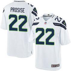 Men's Nike Seattle Seahawks #22 C. J. Prosise Limited White NFL Jersey Lions Barry Sanders 20 jersey