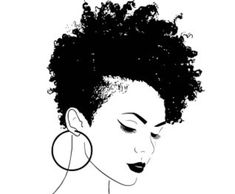 33 trendy ideas for hair drawing afro black girls Tapered Natural Hair, Natural Hair Art, Natural Hair Styles, Short Natural Hair, Tapered Afro, Black Girl Art, Black Women Art, Black Art, Black Girls