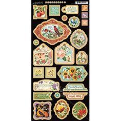 Graphic45 Decorative Chipboard,