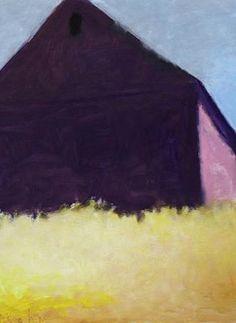 "[Similar to: Deep Purple Barn (2003)]. Wolf Kahn (1927- ), German-born American. Oil on canvas. [Perhaps approx. 52"" x 60""]."
