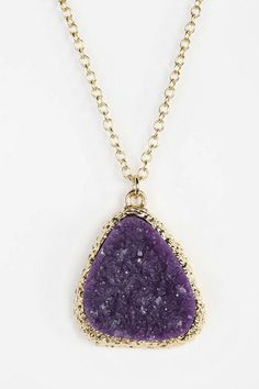Suncoast Delicate Druzy Necklace #urbanoutfitters