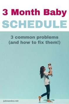 Struggling with your three month baby schedule? Getting your baby on a schedule can be frustrating. Try these baby schedule tips to help you solve three common problems that mess up your baby's routine. 3 Month Old Sleep, Three Month Old Baby, Baby Month By Month, Newborn Schedule, Baby Sleep Schedule, Toddler Schedule, Baby Schlafplan, Baby Play, Baby Monat Für Monat