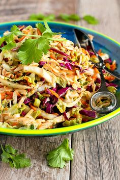 Thai Chicken Salad Recipe…It's virtually impossible to stop eating this delicious, healthy salad! 236 calories and 5 Weight Watcher SmartPoints -