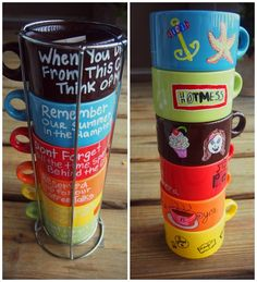Memory Mugs <3 So cute! Decorated with sharpy and paint pens (for glass).