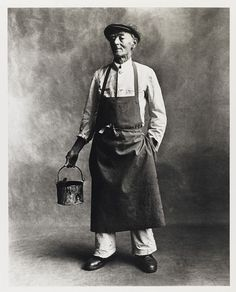 Professions by Irving Penn. The Painter Post by Hugo Lavín | holeandcornermagazine.com