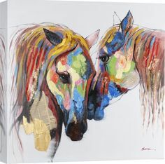 Shop for Portfolio Canvas Decor Taylor 'Boundless Beauty' Framed Canvas Wall Art. Get free delivery On EVERYTHING* Overstock - Your Online Art Gallery Store! Get in rewards with Club O! Painted Horses, Painting Prints, Art Prints, Paintings, Horse Wall Art, Ouvrages D'art, Art Graphique, Equine Art, Animal Drawings