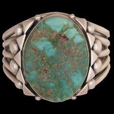 Navajo Damele Variscite Bracelet - Orville Tsinnie (#02) - Twin Rocks Trading Post