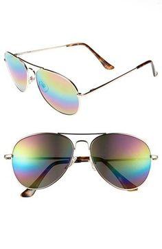431c863aa6 Fantas Eyes Aviator Sunglasses available at  Nordstrom Mirrored Aviator  Sunglasses