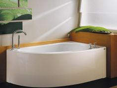 corner soaker tub Corner Soaking Tubs For Small Bathrooms . Small Bathroom, Big Baths, Bathtub Remodel, Remodeling Mobile Homes, Bathroom Makeover, Narrow Bathroom, Small Shower Room, Bathroom Renovations, Bathroom