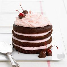 Ultimate Valentine's Day Dessert: Chocolate Cherry Stack Cake!    Recipe: http://bhgmag.co/Y4J9r0    Plus! More chocolate recipes: http://bhgmag.co/Y6nAZ3