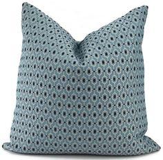 Wedgewood Blue & Midnight Blue Mini Print Pillow by ThePillowSpot