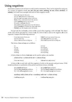 Declarative sentences and word order each sentence with a form of not any. Retain the tense of the. Word Order, Negative Words, The Tenses, English Sentences, Let It Be, Sentences In English