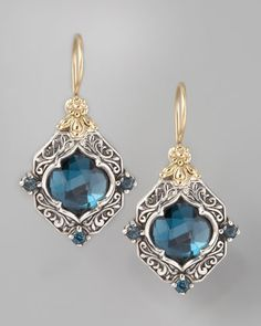 London+Blue+Topaz+Drop+Earrings+by+Konstantino+at+Neiman+Marcus.