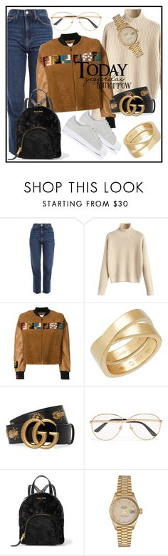 """""""It's Coffee o'clock"""" by elenzark ❤ liked on Polyvore featuring Topshop, Fendi, Cartier, Gucci, Miu Miu, Rolex and adidas"""