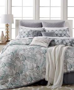Kelly Ripa Home Fretwork Gray 10-Piece Comforter Sets, Only at Macy's | macys.com