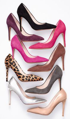Pointed toe pumps - so many choices! http://rstyle.me/n/b8k7tnyg6
