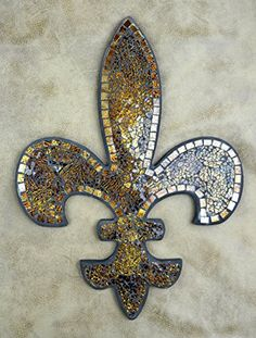Lulu Decor Fleur De Lis Decor Wall Decorative Plaque Perfect for Housewarming Gift Amber Mosaic -- More info could be found at the image url.-It is an affiliate link to Amazon. #Clocks