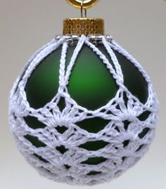 Crochet Christmas Ornament Green Victorian by LifeIsAJourney50, $5.00
