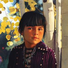 Marisolea at six, Navajo by George Molnar