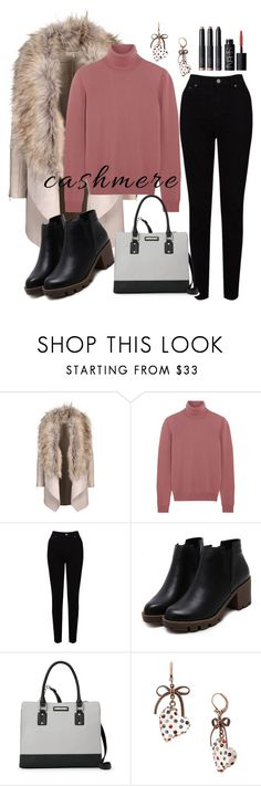 """""""cashmere"""" by aazraa ❤ liked on Polyvore featuring Bottega Veneta, EAST, Nine West, Betsey Johnson and NARS Cosmetics"""