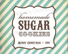 Vintage Stripes Holiday Sticker or Tag. Very cool!  She will customize for you and e-mail you the template.  Same designer did the Cookie Dough Tag.