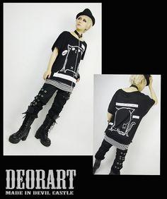CDJapan : Nekomodoki Dolman Long T-Shirt w/ Collar (M) DRT2075-BW Deorart APPAREL