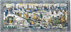Portugese tegels geven kleur aan Lissabon - via Over Portugal 27.02.2015   Wie door Portugal reist, kan de Portugese tegels onmogelijk over het hoofd zien. Vele voorgevels zijn bedekt met deze typische azulejos (spreek uit: azoelèsjoes). Lissabon heeft de meeste azulejos ter wereld. De keramische tegels geven kleur aan de stad, iets wat ook toeristen waarderen. Deze foto is gemaakt in Bairro Alto, een populaire wijk in het centrum van Lissabon.