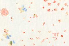 Nani Iro, Fuwari Fuwari Hanakouen soft vanilla white cotton double gauze fabric
