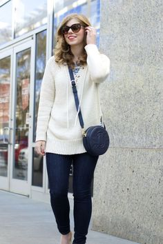 Light Lace Up Sweater for Spring