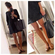 """Pour coller à la tendance Normcore du moment, Ici une jolie version robe (by Mme la poule) du patron """"confortable"""" : http://mlmpatrons.bigcartel.com/"""