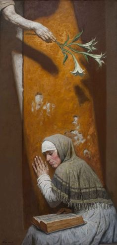 Geliy Korzhev - The painting of the Annunciation