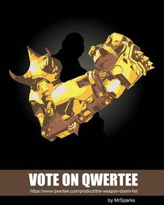 My last design is on Qwertee! You can vote it here:  www.qwertee.com/... #doomfist #overwatch #multiplayer #gaming #twitch #qwertee #shirtpunch #teefury #teetee #riptapparel #designbyhumans #mrsparks #instaoftheday #artoftheday #digitalart #art #illustration