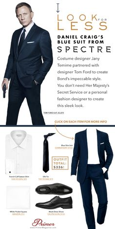 Costume designer Jany Temime partnered with designer Tom Ford to create Bond's impeccable style. You don't need Her Majesty's Secret Service or a personal fashion designer to create this sleek look.