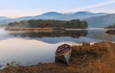 Boat on the lake in Ireland.