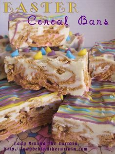 Easter Cereal (Candy) Bars-- not using them for Easter but looking for a good cereal bar recipe