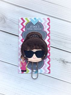 Audrey Paper Clip -Planner Paper Clip - Planner Accessories - Holly Go Lightly - Audrey Feltie