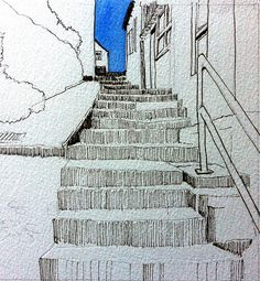 Staithes steps by John Harrison, artist, via Flickr